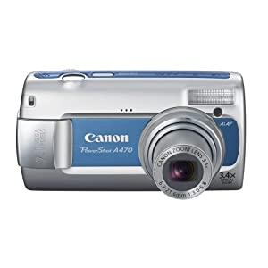 Canon PowerShot A470 7.1MP Digital Camera with 3.4x Optical Zoom (Blue)