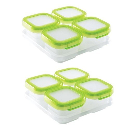 OXO Tot Baby Blocks Freezer Storage Containers 4-Ounce, Set of 8, Clear (4 Oz Freezer Containers compare prices)