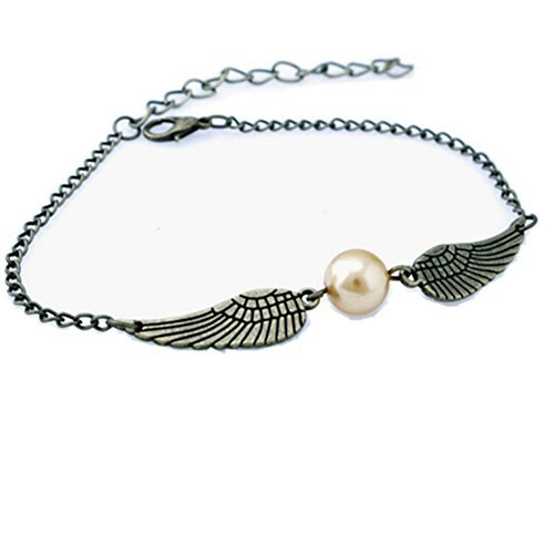 Yummiexpress®harry Potter Golden Snitch Silver Pearl Bracelet