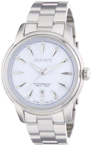 Gant  Bloomfield - Reloj de cuarzo para mujer, con correa de acero inoxidable, color plateado