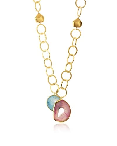 Saachi Hanging Agates Drop Necklace