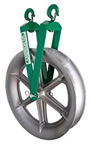 Greenlee 639 Twin Yoke Sheave, Right Angle, 4000-Pound Capacity