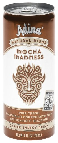chocolate beverages: Adina Mocha Madness Coffee Energy Drink, 8-Ounce Cans (Pack of 24)