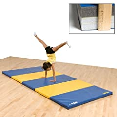 Buy GSC Expando Nova Duo Layered-Foam Mat W Velcro Ends - Blue 5 x 10 Foot by Athletic Connection