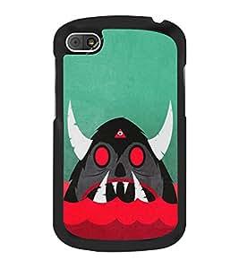 Cartoon Monster 2D Hard Polycarbonate Designer Back Case Cover for BlackBerry Q10