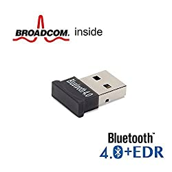 Bluetooth Adapter Dongle, GMYLE Ultra-Mini USB Broadcom BCM20702 Class 2 Bluetooth V4.0+EDR Dual Mode Dongle wireless Adapter with LED