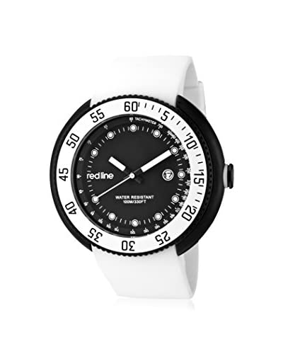 red line Men's 50069-BB-01-WHT Driver White Silicone Watch
