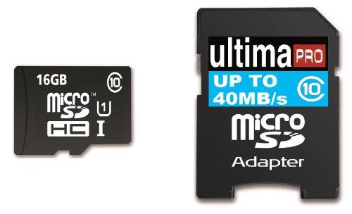 Memzi SDHC-Speicherkarte (16 GB, Class 10, 40 MB / s Ultima Pro Micro SDHC Speicherkarte mit SD-Adapter für Sony Camcorder HDR, CX Series Digital Camcorder