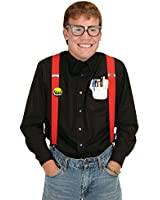 Instant Nerd Kit (Includes: Taped Eyeglasses, Pocket Protector & Nerd Squad Button) Party Accessory  (1 count) (1/Pk