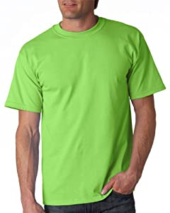 Gildan Adult Ultra Cotton T-Shirt, Lime, Large. 2000