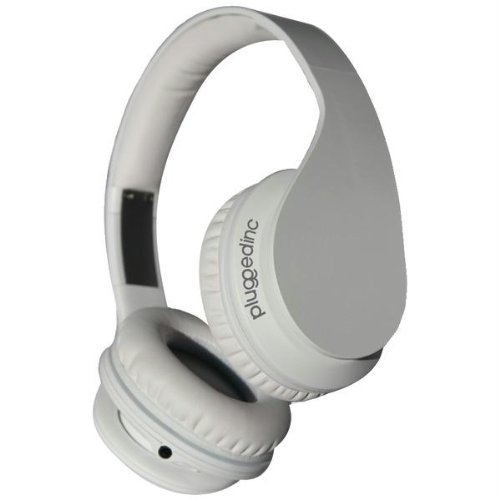 Plugged Inc. Cs-Gho Gs1213 Crown Headphones With Microphone, White