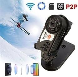 CROCON Spy Mini Hidden Q7 Camera 480P Wifi DV DVR Wireless IP Cam Brand New Mini Video Camcorder Recorder Infrared Night Vision