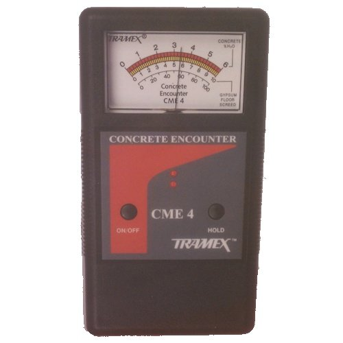 Tramex CME4 Tramex Non Destructive Concrete Moisture Meter Encounter 4, Measuring Range: 2-6% H2O