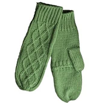 Merona Womens Green Knit Mittens with Finger Opening