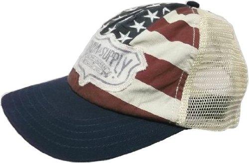 (デニム&サプライ) ラルフローレン メッシュキャップ 帽子 星条旗 紺 赤 DENIM&SUPPLY CAP 003[並行輸入品]