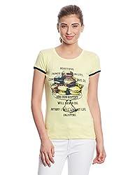 Madame Women's Body Blouse Top (M1551219_Lemon_XX-Large)