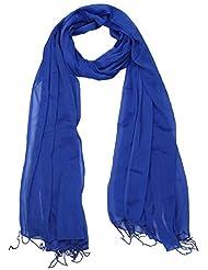 Famacart Women's Ethnicwear Chiffon Plain Blue Dupatta