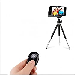 BLUETOOTH MOBILE CAMERA REMOTE SHUTTER SELFIE SNAPPER WITH SMARTPHONE TRIPOD / MOBILE MOUNT