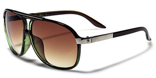 Men's Women's Retro Vintage 80s Classic Fashion Designer Aviator Sunglasses Green (Vintage Glasses 80 compare prices)