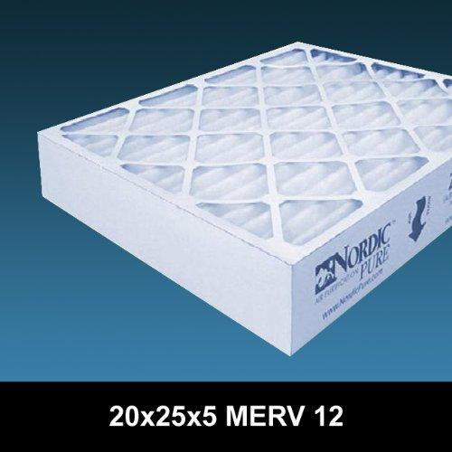 20x25x5 Merv 12 Honeywell Replacement Air Cleaner Furnace Filter