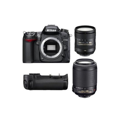 D7000 Reflex Numerique + Objectif AF-SDX 16-85mm 3,5-5,6G ED VR + Objectif AF-SDX VR 55-200 mm f/...