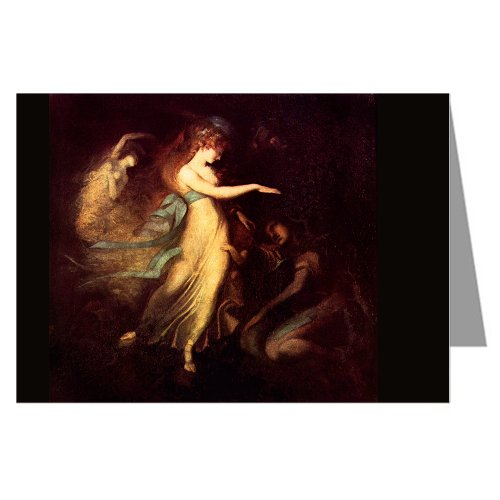 Six Vintage Greeting Cards Of Johann Heinrich Fuseli (Prince Arthur And The Fairy Queen) Painting