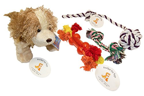 Everlast Pet Toys   Best Rope & Plush Toy Bundle For Dogs   Plush Doll   Knotted Ball Puller   Guaranteed   Teether Bone Rope   Double Knotted Chewer   Top Rated – #1 Seller   All Breeds Ages & Sizes