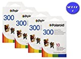 4 Pack Of Polaroid PIF-300 Instant Film for 300 Series Cameras + Smart Shop UK Micro Fiber Cloth