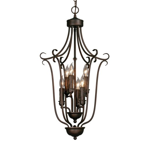 Golden Lighting 6426-6 RBZ Multi-Family Caged Foyer, Rubbed Bronze Finish