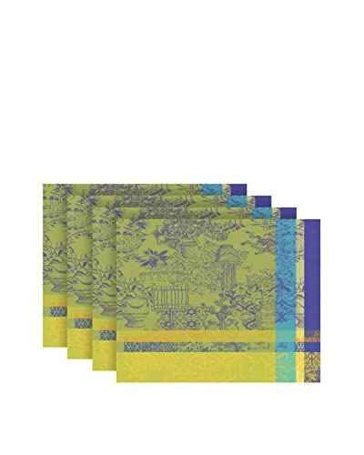 Garnier-Thiebaut Mille Patios Set of 4 Placemats, Majorelle
