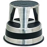 Cramer 1002-00 Kik Step Rolling Step Stool Premium Grade Stainless Steel