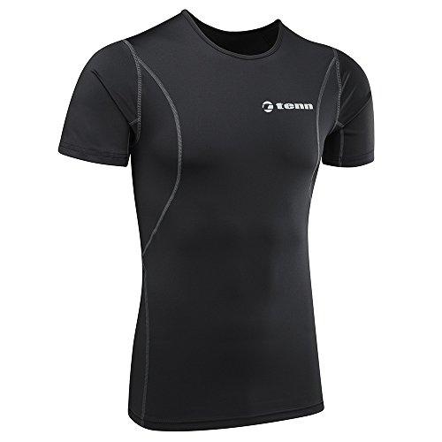 tenn-outdoors-short-de-compression-a-manches-courtes-pour-couche-de-base-l-noir
