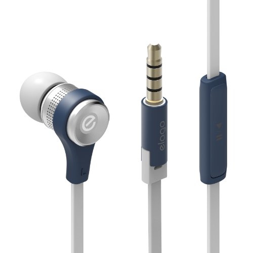 Elago E6M Control Talk In-Ear Earphones - Jean Indigo (Compatible With Iphone 5,4/4S,3G/3Gs. Control-Talk With Built In Microphone)