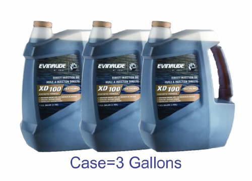 Evinrude Johnson 764357 E-TEC XD 100 2-Cycle Oil, 1-Gallon (Pack of 3)