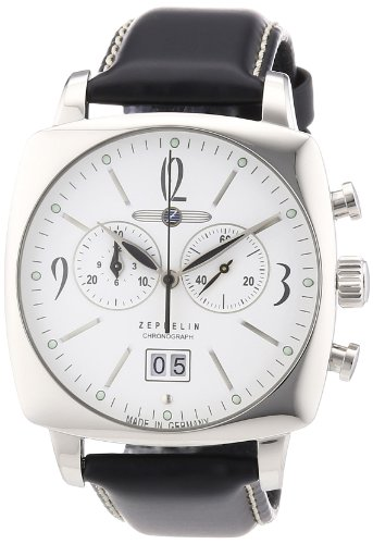 Zeppelin Men's Chronograph Watch 77841 With Cushion Shaped Steel Case