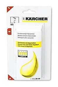Kärcher Nettoyant vitres concentré 4 x 20 ml pour le nettoyeur de vitres WV réf 6.295-302.0