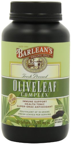 Barlean'S Organic Oils Olive Leaf Complex, 180 Count