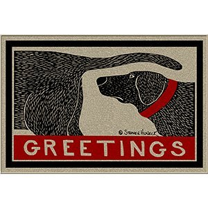 Humorous Dog Sniffing Welcome Doormat