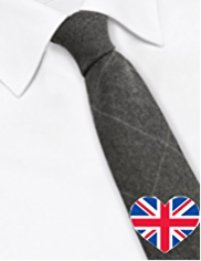 Best of British Pure Wool Checked Tie