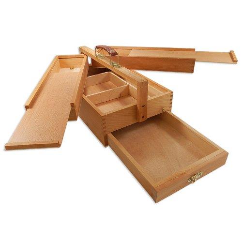 """Artina - Boite de rangement en bois pour matériel de peinture - """"Vannes"""" - 4 compartiments - Tres pratique -39x23x17,5cm"""