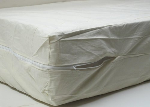 100 Cotton Fleetwood Mattress Cover Cot Size 30 X 75 Zips Around