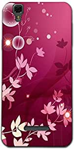 Snoogg Flower Pink Graphic Designer Protective Back Case Cover For Micromax Y...