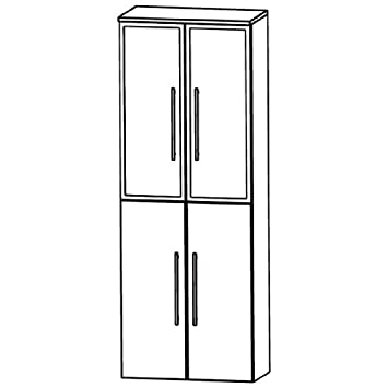 Puris Swing (HNA036B7 Bathroom High Cabinet 60 CM