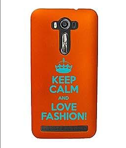 KolorEdge Back Cover For Asus Zenfone 2 Laser - Orange (4362-Ke15084Zen2LaserOrange3D)