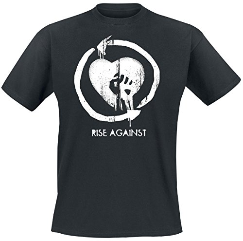 Rise Against Heart Logo T-Shirt nero XXL