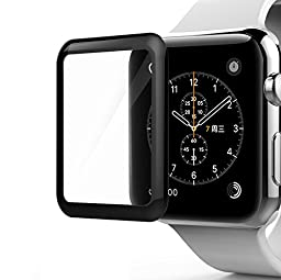 Apple Watch Screen Protector, Oittm Tempered Glass [Full Coverage] 3D full Curved Edge Screen Protector for Apple Watch 42mm [Lifetime Replacements]