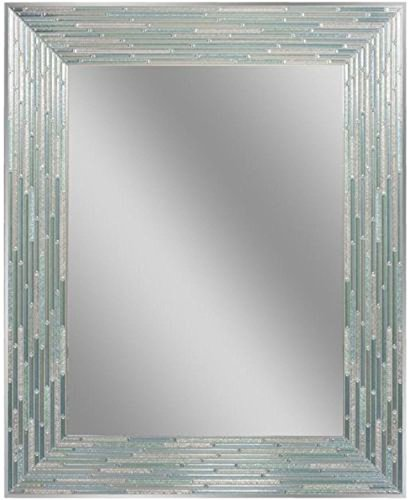 Headwest Reeded Sea Glass Wall Mirror, 24