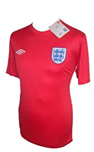UMBRO ENGLAND MENS RED AWAY FOOTBALL 3 LIONS T SHIRT S M L XL 2XL TAILORD BY UMBRO NEW (XL)