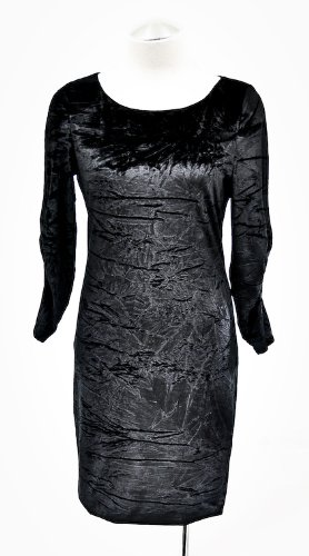 Alice + Olivia Black L/S Velvet Tabitha Dress