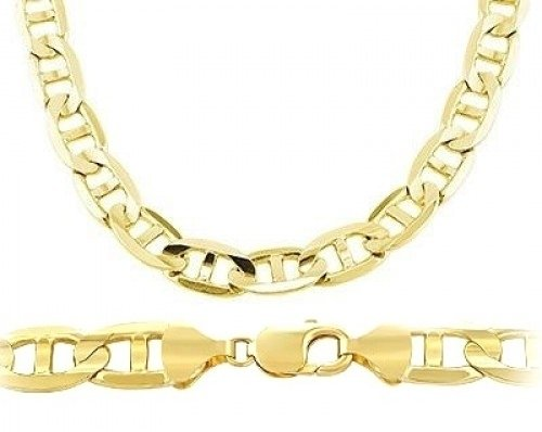 Mens 14k Yellow Gold Bracelet Gucci Mariner Solid Link 7.7mm 8.5 inch